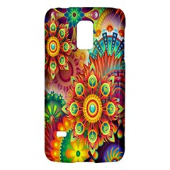 Colorful Abstract Flower Floral Sunflower Rose Star Rainbow Galaxy S5 Mini