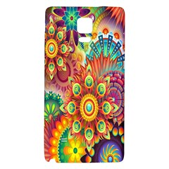 Colorful Abstract Flower Floral Sunflower Rose Star Rainbow Galaxy Note 4 Back Case