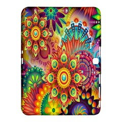 Colorful Abstract Flower Floral Sunflower Rose Star Rainbow Samsung Galaxy Tab 4 (10 1 ) Hardshell Case