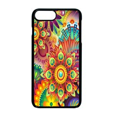 Colorful Abstract Flower Floral Sunflower Rose Star Rainbow Apple Iphone 7 Plus Seamless Case (black)