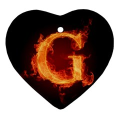 Fire Letterz G Ornament (heart)