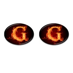 Fire Letterz G Cufflinks (oval)