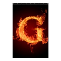 Fire Letterz G Shower Curtain 48  x 72  (Small)