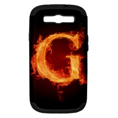 Fire Letterz G Samsung Galaxy S Iii Hardshell Case (pc+silicone)