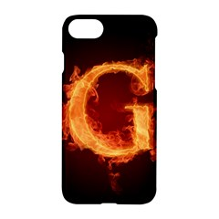 Fire Letterz G Apple Iphone 7 Hardshell Case