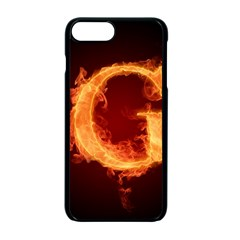 Fire Letterz G Apple Iphone 7 Plus Seamless Case (black)