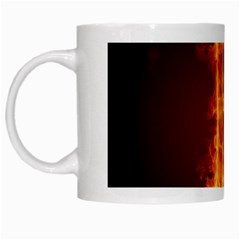 Fire Letterz E White Mugs