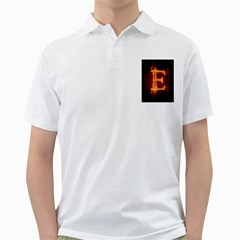 Fire Letterz E Golf Shirts