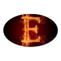 Fire Letterz E Oval Magnet