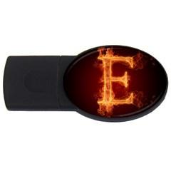 Fire Letterz E Usb Flash Drive Oval (4 Gb)