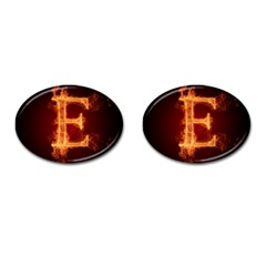 Fire Letterz E Cufflinks (oval)