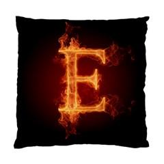Fire Letterz E Standard Cushion Case (one Side)