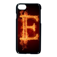 Fire Letterz E Apple Iphone 7 Seamless Case (black)
