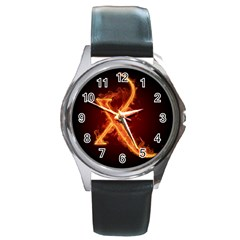 Fire Letterz X Round Metal Watch