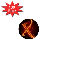 Fire Letterz X 1  Mini Magnets (100 Pack)
