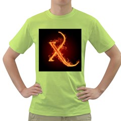 Fire Letterz X Green T Shirt