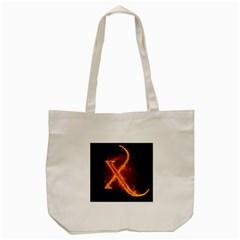 Fire Letterz X Tote Bag (cream)