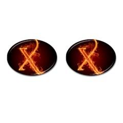 Fire Letterz X Cufflinks (oval)