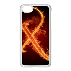 Fire Letterz X Apple Iphone 7 Seamless Case (white)