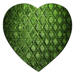 Circle Square Green Stone Jigsaw Puzzle (heart)