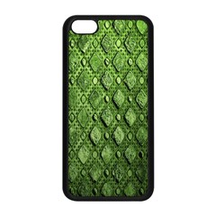 Circle Square Green Stone Apple Iphone 5c Seamless Case (black)