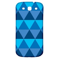 Geometric Chevron Blue Triangle Samsung Galaxy S3 S Iii Classic Hardshell Back Case