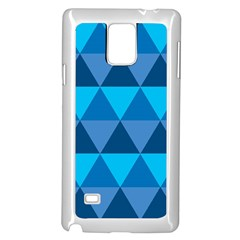 Geometric Chevron Blue Triangle Samsung Galaxy Note 4 Case (white)