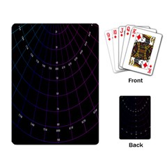 Formula Number Line Purple Natural Playing Card