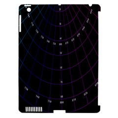 Formula Number Line Purple Natural Apple Ipad 3/4 Hardshell Case (compatible With Smart Cover)