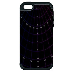 Formula Number Line Purple Natural Apple Iphone 5 Hardshell Case (pc+silicone)