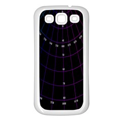 Formula Number Line Purple Natural Samsung Galaxy S3 Back Case (white)