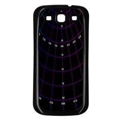 Formula Number Line Purple Natural Samsung Galaxy S3 Back Case (black)