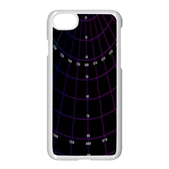 Formula Number Line Purple Natural Apple Iphone 7 Seamless Case (white)