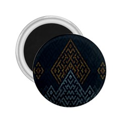 Geometric Triangle Grey Gold 2 25  Magnets