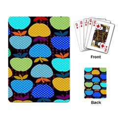 Fruit Apples Color Rainbow Green Blue Yellow Orange Playing Card