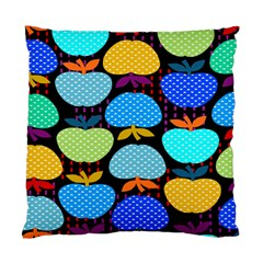 Fruit Apples Color Rainbow Green Blue Yellow Orange Standard Cushion Case (two Sides)