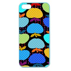 Fruit Apples Color Rainbow Green Blue Yellow Orange Apple Seamless iPhone 5 Case (Color)