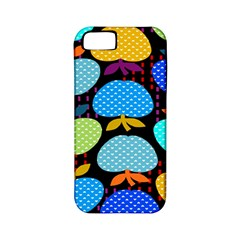 Fruit Apples Color Rainbow Green Blue Yellow Orange Apple Iphone 5 Classic Hardshell Case (pc+silicone)