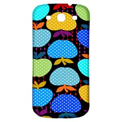 Fruit Apples Color Rainbow Green Blue Yellow Orange Samsung Galaxy S3 S Iii Classic Hardshell Back Case