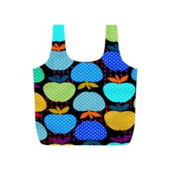 Fruit Apples Color Rainbow Green Blue Yellow Orange Full Print Recycle Bags (s)