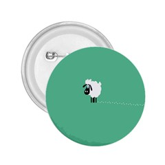 Goat Sheep Green White Animals 2 25  Buttons