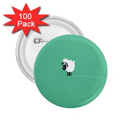 Goat Sheep Green White Animals 2 25  Buttons (100 Pack)