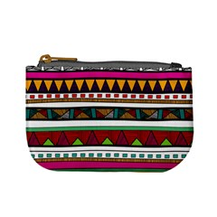 Woven Fabric Triangle Color Rainbow Chevron Wave Jpeg Mini Coin Purses