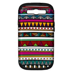 Woven Fabric Triangle Color Rainbow Chevron Wave Jpeg Samsung Galaxy S Iii Hardshell Case (pc+silicone)