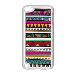 Woven Fabric Triangle Color Rainbow Chevron Wave Jpeg Apple Ipod Touch 5 Case (white)