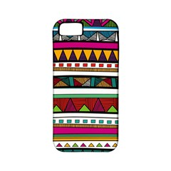 Woven Fabric Triangle Color Rainbow Chevron Wave Jpeg Apple Iphone 5 Classic Hardshell Case (pc+silicone)