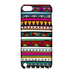 Woven Fabric Triangle Color Rainbow Chevron Wave Jpeg Apple Ipod Touch 5 Hardshell Case With Stand
