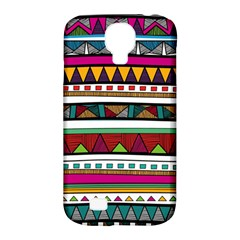 Woven Fabric Triangle Color Rainbow Chevron Wave Jpeg Samsung Galaxy S4 Classic Hardshell Case (pc+silicone)