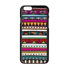 Woven Fabric Triangle Color Rainbow Chevron Wave Jpeg Apple Iphone 6/6s Black Enamel Case