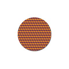 Geometric Plaid Red Orange Golf Ball Marker (4 Pack)